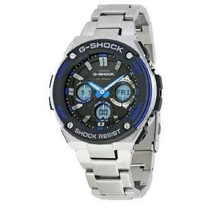 Authentic: G-Shock G-Steel Black Dial SS Chronograph Quartz Male Watch GSTS100D-1A2