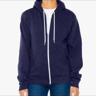 Navy Blue  American Apparal Zip up Hoodie