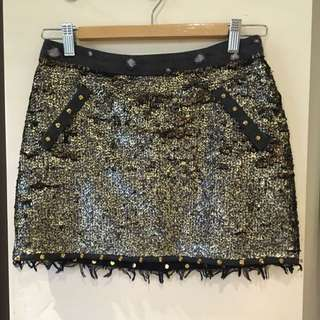 AJE Sequin Mini Skirt