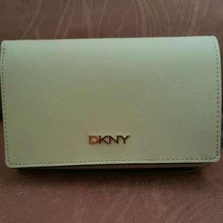 DKNY Saffiano Wallet in Beige