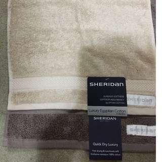 2 x Brand New Sheridan Face Washer