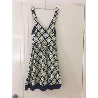 Valley girl Kiwi Fruit Dress Size 8