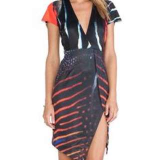 Ringuet black and Red Dress, Size 8