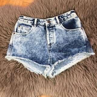 MOTO TOPSHOP High Waisted Shorts