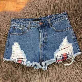 XXI Denim High Waisted Shorts.