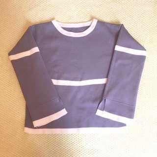 100%new 韓式 上衣 闊袖 藍色上衣