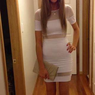 Kookai White Mesh Dress
