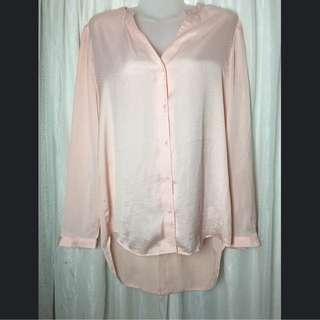Silky Light Pink Blouse