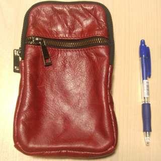 型格紅色真皮袋 (掛包/斜揹) #marchsale