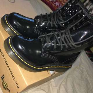 Glossy Doc Martens