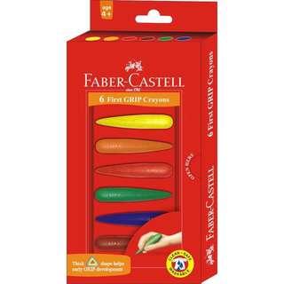 學齡蠟筆 子彈造型 可擦拭 無毒 六色 德國 輝柏Faber-Castell