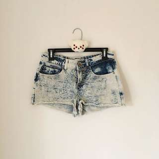 Embroided Denim Shorts