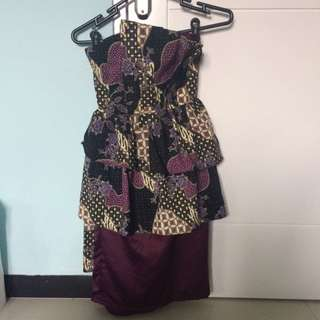 BATIK ruffle dress