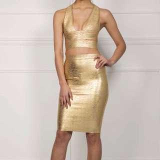 NOODZ BOUTIQUE milan skirt - gold