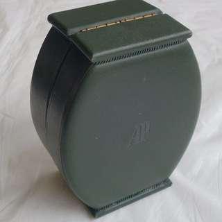 Rare Vintage AP Audemars Piguet Designer Wrist Watch Box, AP Carnegie, Switzerland, Beautiful Green Color