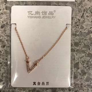 Rose Gold 'V' Necklace