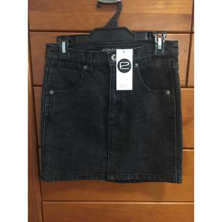 Evolution Black Denim Mini Skirt