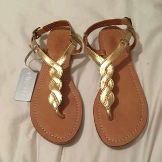 New Eb&ive Gold Sandals