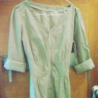 Brown Zip Down Dress