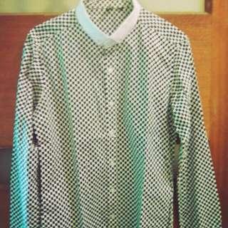 Checkered Button Down Top