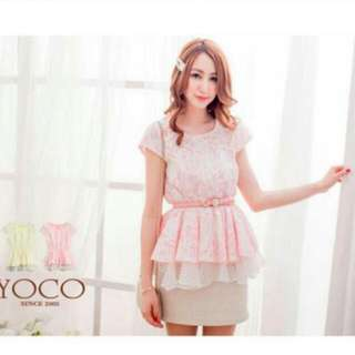 Price Reduced - Pink Lace Top