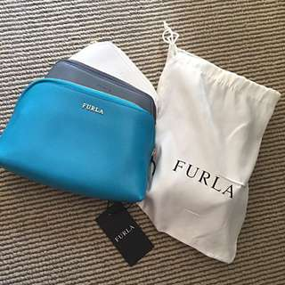 100% Authentic Furla Triple Pouches