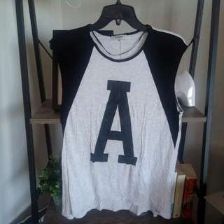 Pull & Bear Letter A Loose Tank Top