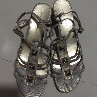 Charles and Keith gold sandals size 41