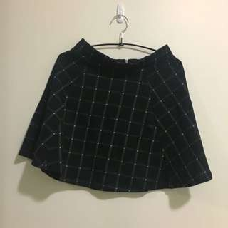 Black Checkered Skirt