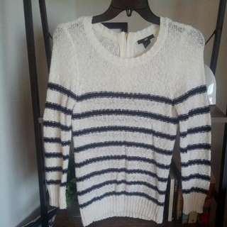 Long Sleeved Striped Knit
