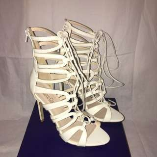 Brand New Tie Up Marco Gianni Heels