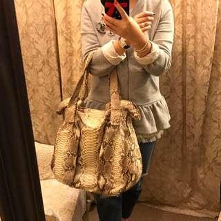 Zagliani Snake Leather Handbag