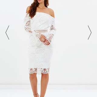 ATMOS&HERE  Blossom Lace Off-the-Shoulder Dress