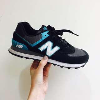 New Balance 574 黑灰藍 24cm
