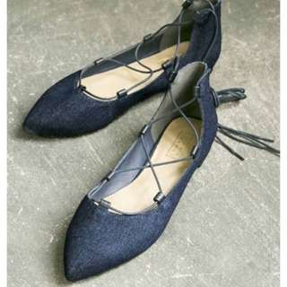 LOWRYS FARM 綁帶尖頭鞋 kiki jeanasis  bin Shin