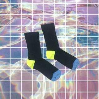 Black Yellow Socks