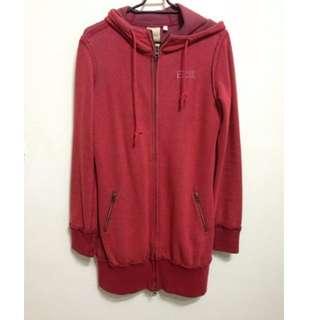 專櫃品牌EDWIN紅色長版外套#冬季衣櫃出清