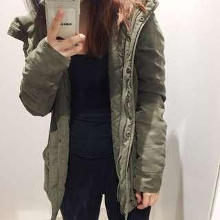 ONLY Olive Green Parka Jacket