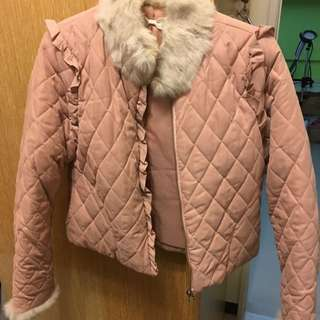 韓版毛毛格格外套