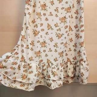 日系森林碎花內搭洋裝