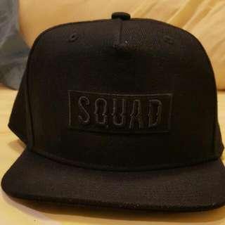 (二手含運)SQUAD 經典黑色棒球帽
