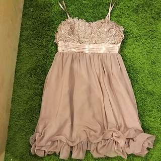Semi Formal Nude Flora Dress Size 16