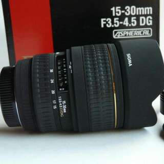 Sigma 15-30mm UWA Lens For Canon DSLR