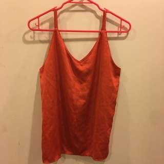 Satin Singlet Summer Orange Size 8-10