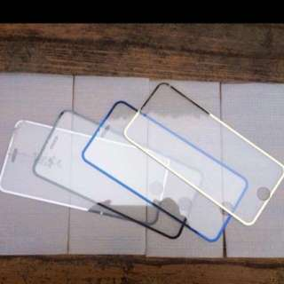iPhone 6 Gold Bordered Tempered Glass