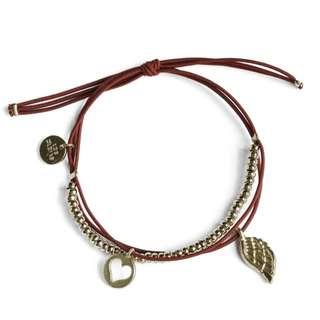 Les Cleias Wing Double Charm Bracelet