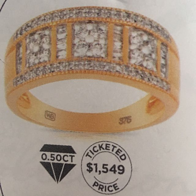 .5ct Gold And Diamond Ring Wallace Bishops