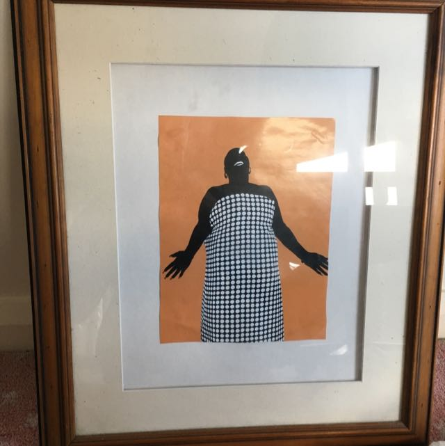 70's African Funk Lady Poster Framed