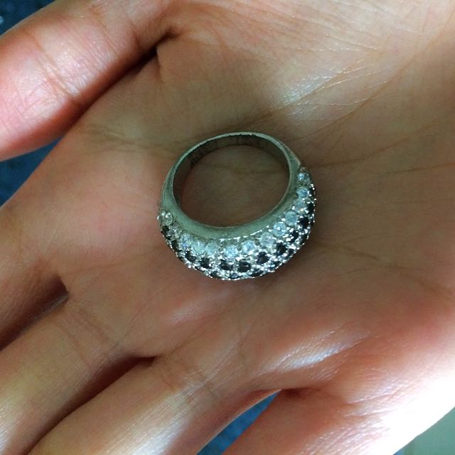 935 Silver Studded Ring