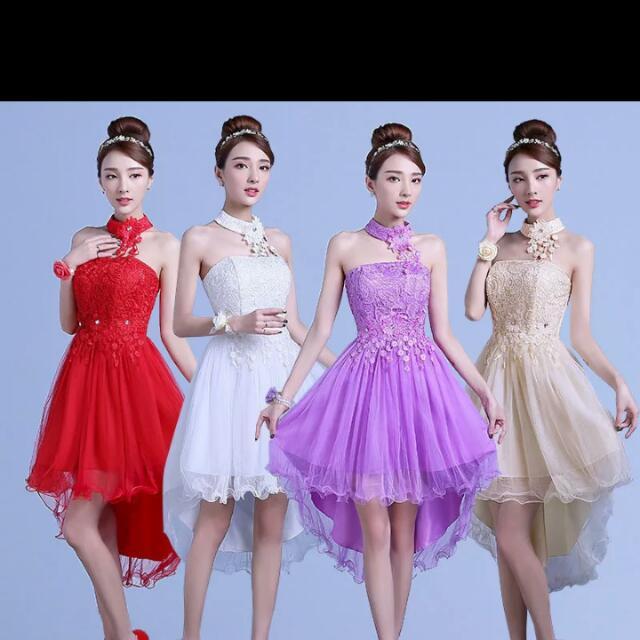 預購 蕾絲 刺繡 洋裝 魚尾裙